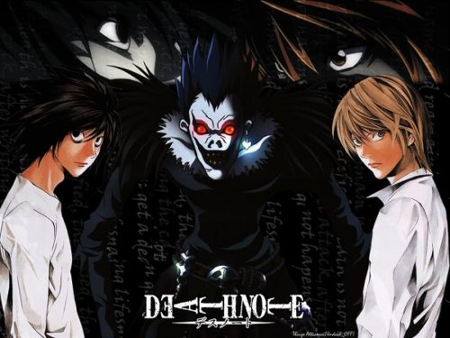Ryuk Light Yagami and L in Death Note