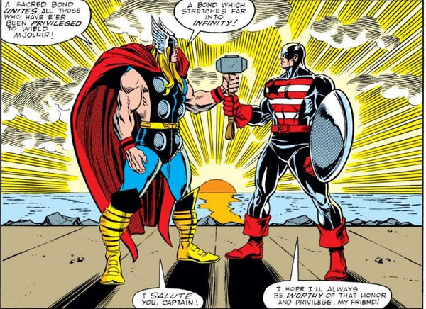 The Mighty Thor Vol. 1 #390 Thor and Captain America