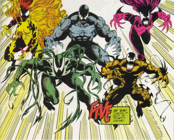 Venom's five offspring