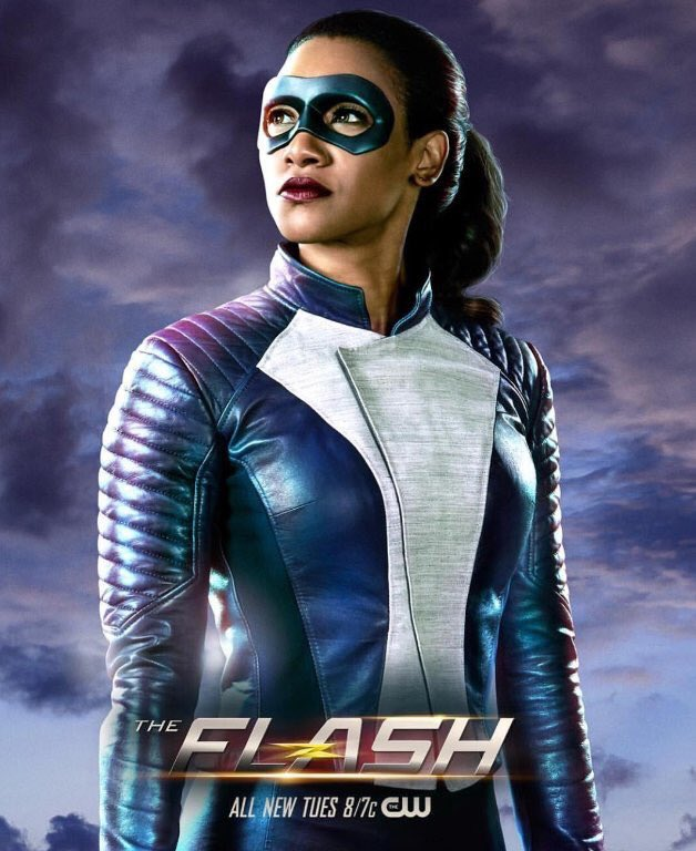 Iris West in new speedster Flash suit