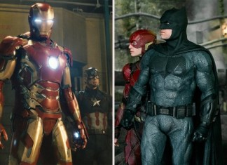 Marvel and DC movies' superheroes