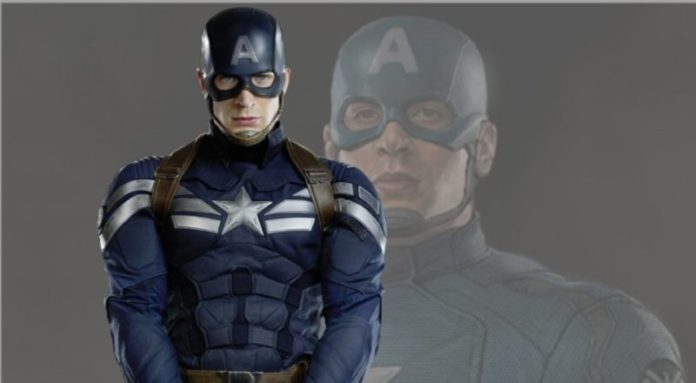 Captain America costume in the Winter Solder