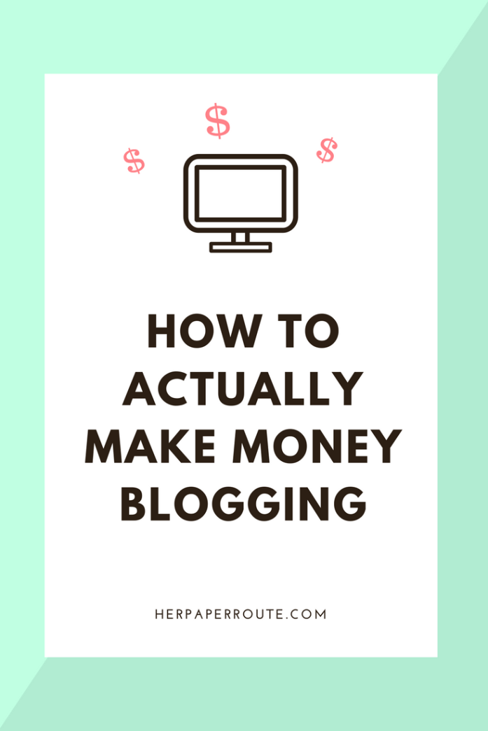 How To Actually Make Money Blogging - Make money online - Affiliate marketing - Sales - Profitable blog - Passive income - Training - How To Start A Blog - How to blog - Work from home - SAHM - Tools And Resouces - Passive Income - Affiliates - Content - Social Media - Management - SEO - Promote | www.herpaperroute.com