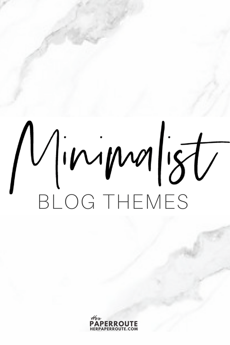Minimalist blog themes wordpress themes - 10 Stunningly Beautiful & Unique Minimalist Themes For Your WordPress Blog | herpaperroute.com