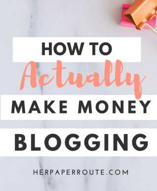 How to make money blogging - 6 ways to monetize your blog - influencer marketing | www.herpaperroute.com