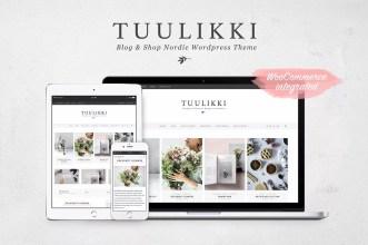 Tuuluki WordPress Theme - Minimalist blog themes wordpress themes - 10 Stunningly Beautiful & Unique Minimalist Themes For Your WordPress Blog | herpaperroute.com