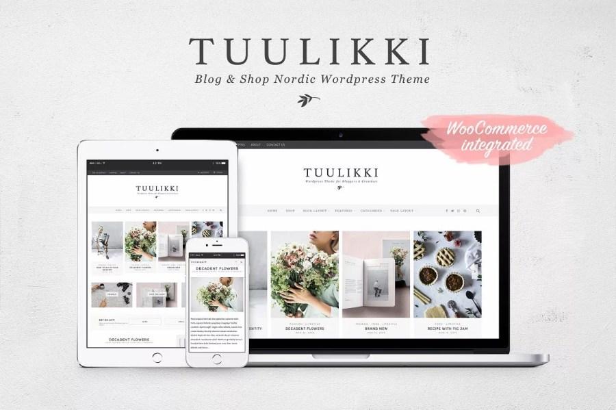 Tuuluki WordPress Theme - Minimalist blog themes wordpress themes - 10 Stunningly Beautiful & Unique Minimalist Themes For Your WordPress Blog   herpaperroute.com