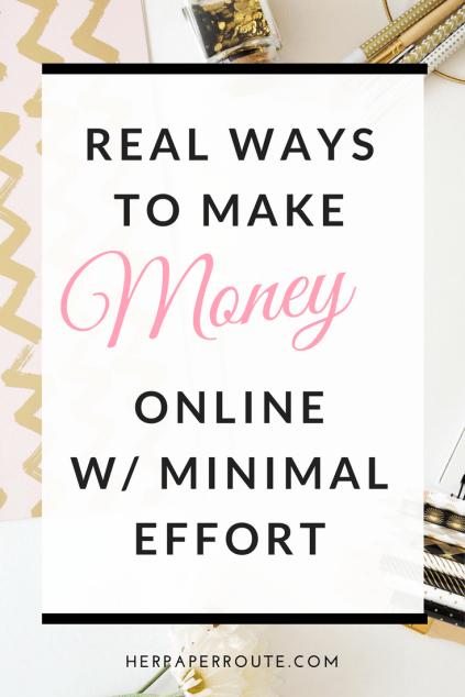 Real Ways To Make Money Online With Minimal Effort - Social Media - Social Media Marketing | www.herpaperroute.com