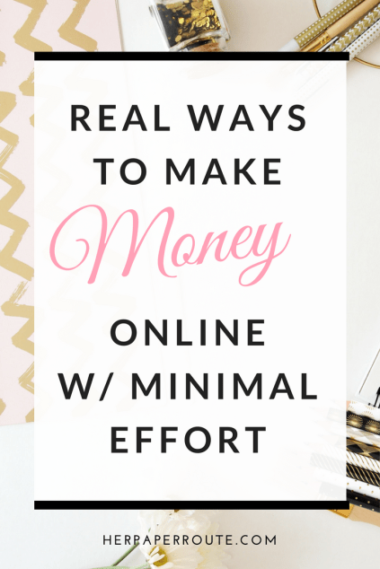 Real Ways To Make Money Online With Minimal Effort - Social Media - Social Media Marketing | www.herpaperroute.com