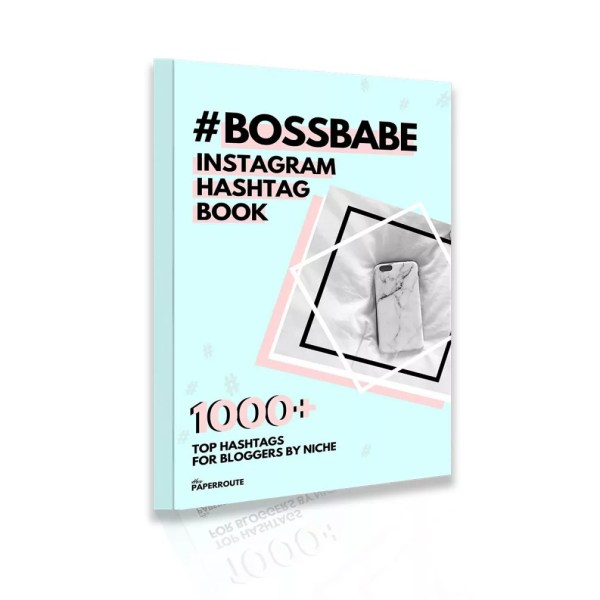 BossBabe Instagram Hashtag Book - eBook best hashtags avoid banned hashtags shadowban best hashtags for bloggers | www.herpaperroute.com