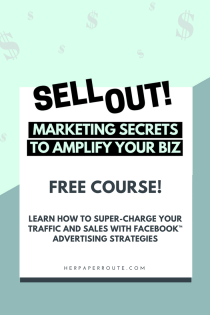 Learn How To Super-Charge Your Traffic And Sales With Facebook Advertising Strategies -eCommerce business tips blogging tips facebook marketing course free course - Facebook advertising secrets - how to use Facebook ads manager - how to start an online store - sell with shopify online course | herpaperroute.com