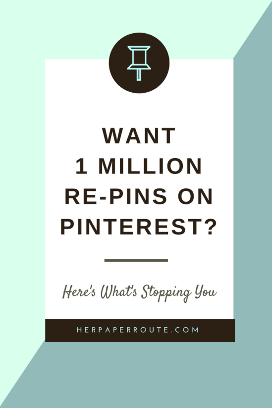 Want 1 Million Re-Pins On Pinteres - Heres Whats Stopping You - Traffic SEO 0- Get More Pinterest Traffic - Pinterest Training - How To Set Up Images And Pins With Rich SEO KeyWords To Improve Traffic And SmartFeed Results - Social Media - Social Media Marketing | www.herpaperroute.com