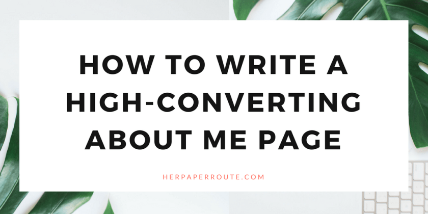 How To Write An About Me Page That Converts. Start A Profitable Blog - Easy WordPress Set Up- SiteGroundHosting - Best Hosting - Affiliate Marketing - ecourse course training compplete blogging business marketing | www.herpaperroute.com