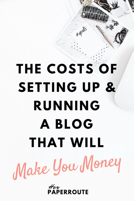 The Costs of Setting Up And Running A Blog That Will Make You Money How To Make Money As An Influencer -Cultivate A Big Impact & Earn A Living As An Influencer With A Small Social Following   HerPaperRoute.com