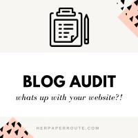 blog audit website audit seo check blogging help