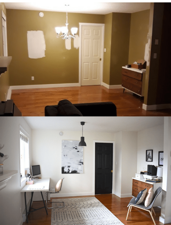 Home Office Before And After | HerPaperRoute.com