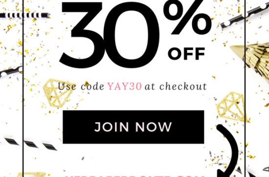 Styled Stock Society Membership Anniversary Sale   www.herpaperroute.com