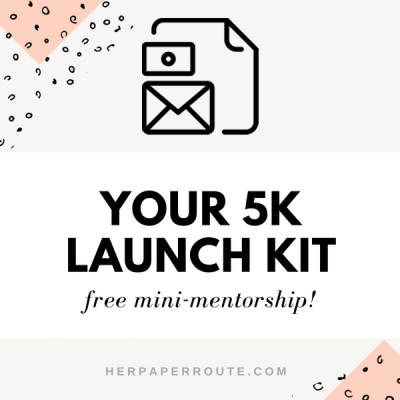 5k launch kit launch mentor launch tips email course free launch tips