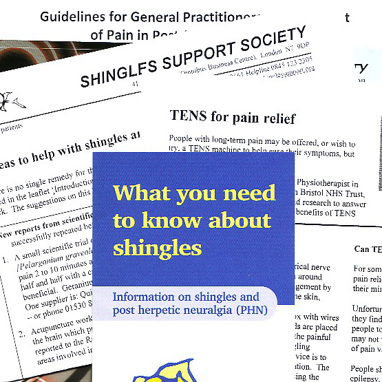 A stack of shingles leaflets.