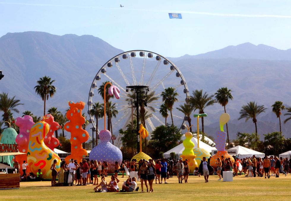 Photo of Coachella music festival.