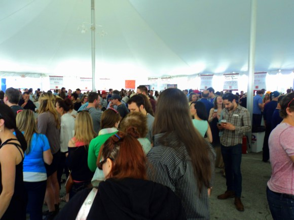 Inside the tent at East Passyunk Avenue's best foodie event, Flavors of the Avenue!