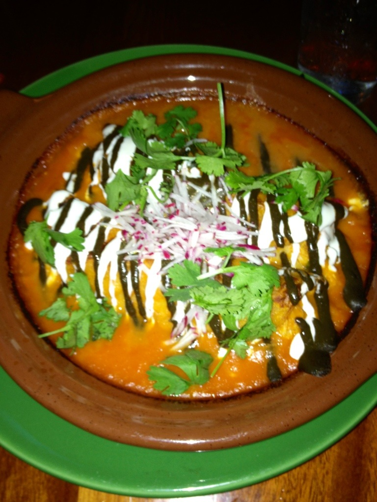 Shrimp and Crab enchiladas at Fairmount's La Calaca Feliz // Her Philly