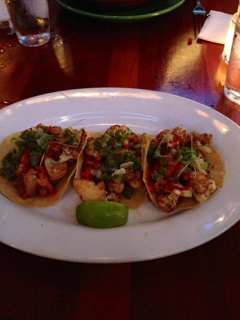 Cauliflower tacos at Fairmount's La Calaca Feliz // Her Philly
