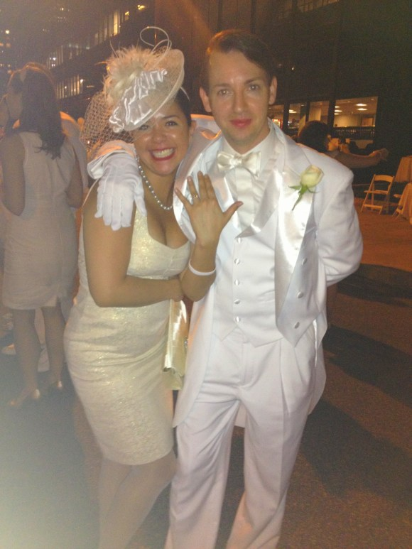Engagement at Diner En Blanc Philadelphia // Her Philly