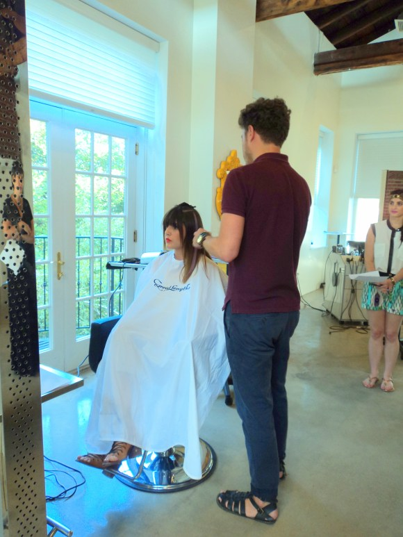 Great Lengths colored extension application at Headhouse Salon // Her Philly