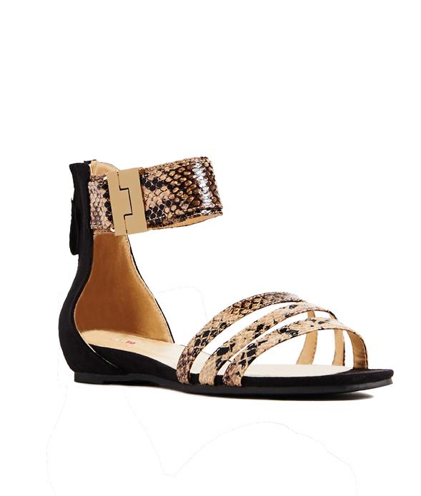 Snakeskin JustFab Nori Sandals