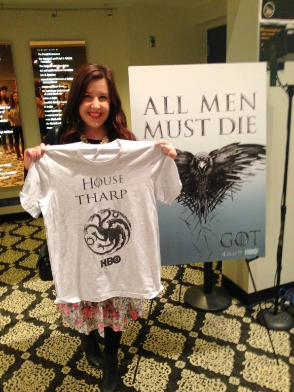 Emily Tharp of Her Philly at the Game of Thrones Season 4 Premiere in Philadelphia