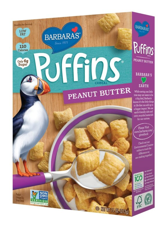 Barbaras Peanut Butter Puffins from Whole Foods