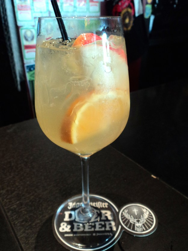 White Sangria at Crabby Cafe in the Piazza // Her Philly