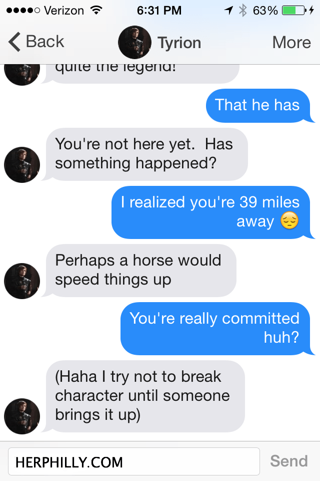 Online Dating Westeros // Her Philly
