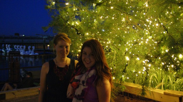 Emily Tharp and Colleen Pinder at the #WhyILovePhilly party // Her Philly