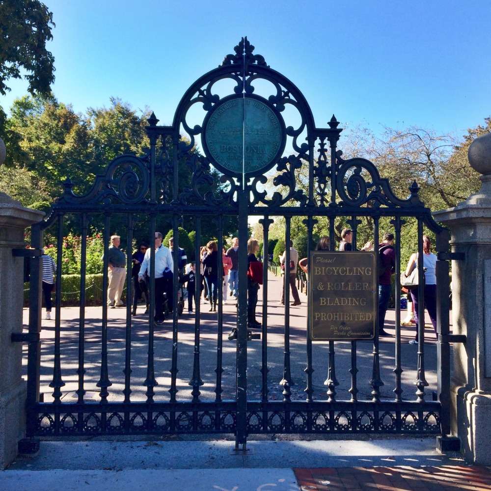 Boston Public Garden Gate // Her Philly