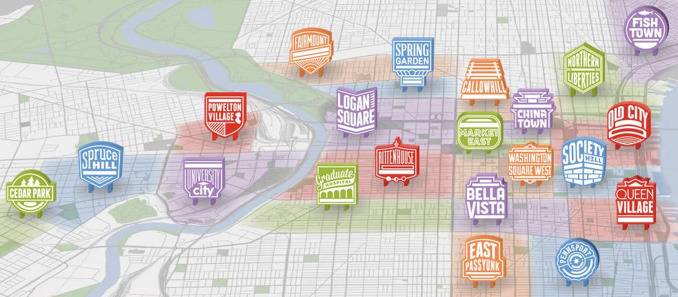 Map of Philly neighborhoods