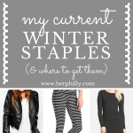 My Current Winter Staples {& Where To Get Them}