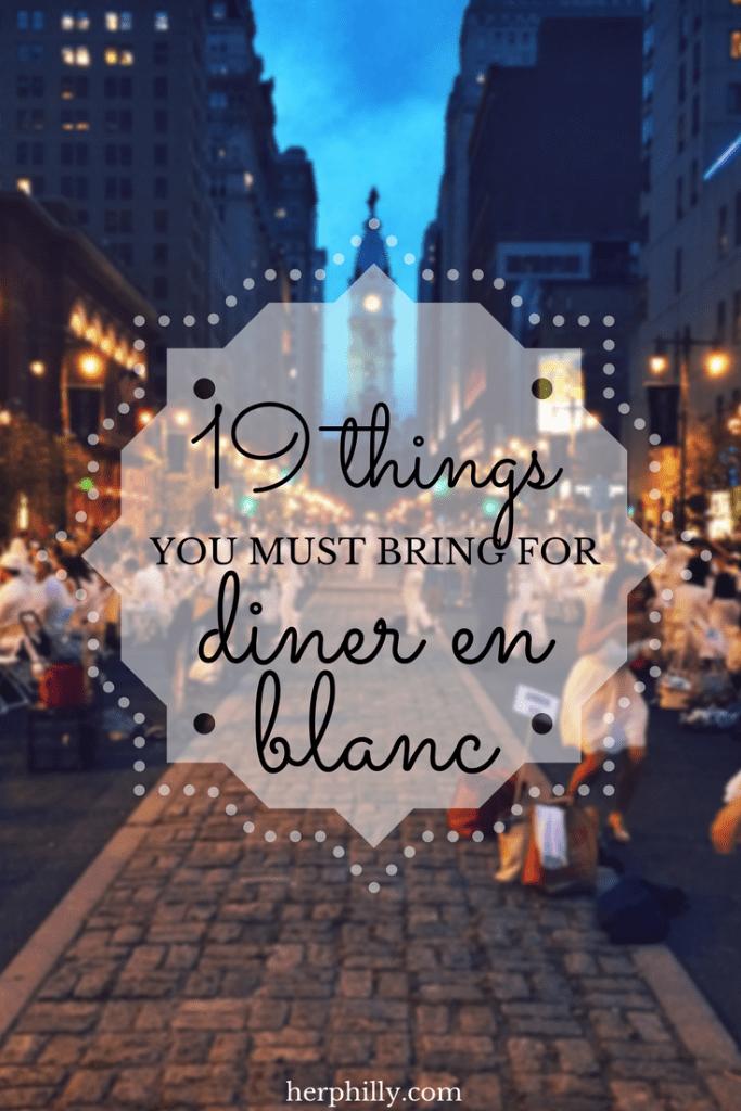 What to Bring to Diner en Blanc #dinerenblanc