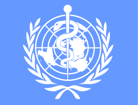 The logo of the World Health Organization