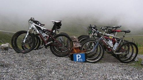 Parkplatz auf 2300 Meter Höhe
