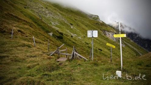 Die Österreichisch-Italienische Grenze.