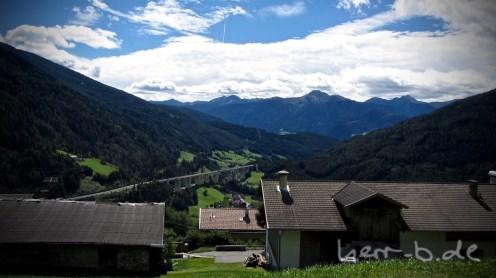 Blick auf die Brennerautobahn.