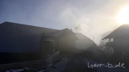 Im Gurtendörfli wieder vom Nebel verschluckt.