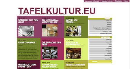 Neuer Look: tafelkultur.eu
