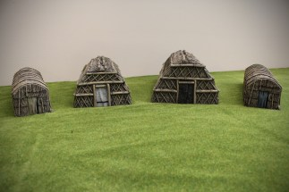 Woodland Indian Longhouses