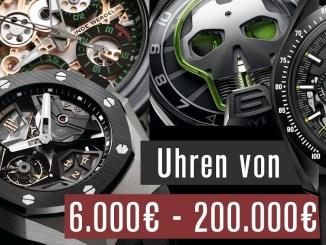 Elite-Uhren für Super-Reiche 6.000-200.000 € | Wahre Meisterwerke