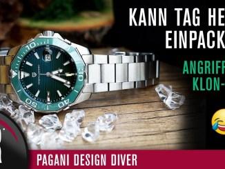Tag Heuer Aquaracer Hommage für 99 €? Das muss Schrott sein! Pagani Design Diver