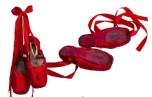 Sapatilhas vermelhas da bailarina Ana Sophia Scheller