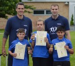 Sports leaders awards. Our sports leaders have been working hard all year to gain this award. They have had to organise, coach, support, umpire, referee(hopefully better than some of these doing this years world cup) and lead by example all the qualities needed to become a sports leader. There are three different levels of achievement. GOLD ASHLEY AMAAN KIRSTIE